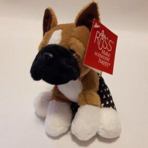 Russ Boxer Dog Plush Heart Boxer Shorts NWT